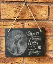 Personalised Engraved Pet Memorial Slate Grave Marker Hanging Plaque