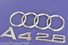 AUDI RINGS EMBLEM A4 2.8 TRUNK REAR BADGE SET 96-01 OEM CHROME 97 98 99 00
