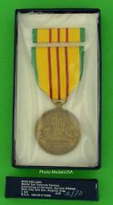 Original Boxed Unopened US Vietnam Service Medal and Ribbon GI Issue Set