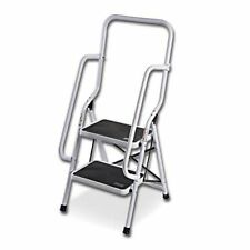 Kitchen Two Step Deep Safety Support Ladder With Side Handrails