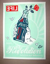 LifeVersa The Revolution Pop Print coca cola bottle Peace Rose Life Mag Art