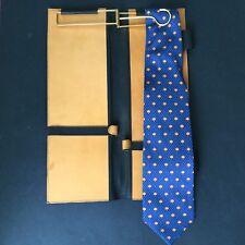 LANCEL - Cravate 100% SOIE et Porte Cravate En Cuir French Silk Tie