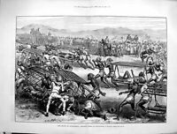 Old Antique Print 1880 Afghanistan War Athletic Games Jellalabad Dooley 19th