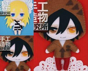 2 pcs Anime Angels of Death Zack DIY Hanging Plush Doll Toy Keychain Bag Pendant