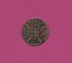 """Frankreich 5 Sols Kupfermünze """"Lille""""  1708 , Erh.:ss"""