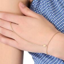 Jennifer Zeuner Mini Faith Hamsa Hand Chain Bracelet in Gold Vermeil