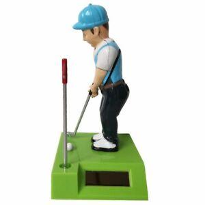 Golfer Solar Powered Dancing Figure - Car Dashboard Window Sill Cute Toy