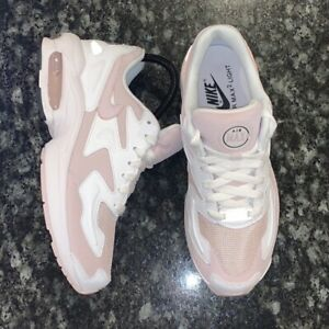 Nike Air Max 2 Light White Barely Rose Pink Women's Shoes Sz 8 (CK2602-100)