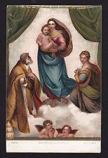 c1910  Madonna & child religion art by Rafaello Santi, Stengel postcard