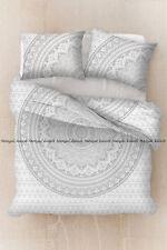 Indien silver ombre cotton bohemian duvet cover mandala bedding quilt cover set