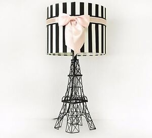 """24.5"""" The Eiffel Tower Table Lamp with Bowknot Shade, Table Lamp for Kids Room"""