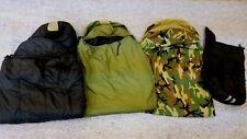 US Military 4-pc Modular Sleep System, 2 Sleeping Bags, Woodland Bivy & Sack EXC