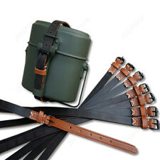 Replica German Military Army M31 Mess Tin Sling Canteen Leather Strap DE/1562586