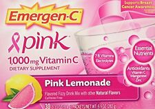 Emergen-C Pink 1000 Mg Vitamin C Supplement Pink Lemonade 30 Packets