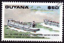 La segunda guerra mundial 1943 US Marines Landing Craft LST nave Sello (batalla del Cabo Gloucester)