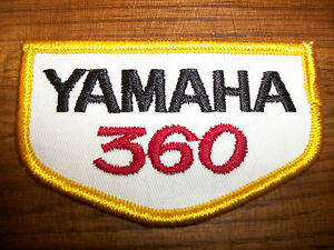 Yamaha 360 patch Vintage Embroidered 1970s NOS DT360 MX360 YZ360