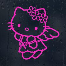 Hello Kitty Angel divertida caricatura de un coche o Laptop calcomanía pegatina de vinilo Color Elección