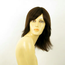 Perruque femme 100% cheveux naturel châtain ref JULIE 6