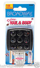 BROADWAY NAILS DELUXE NAIL & BODY JEWEL  ART KIT 144 STONES 00562