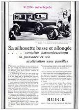 PUBLICITE AUTOMOBILE BUICK CHAMPS DE COURSE CHEVAL ART DECO DE 1929 FRENCH AD