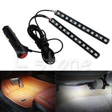 White 2x12LED Car SUV Interior Light Atmosphere Decorative Light Neon Lamp