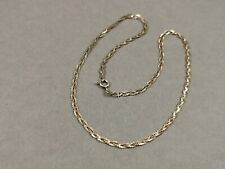 Silber Collier 925 Sterling Halskette im Zopf Dekor
