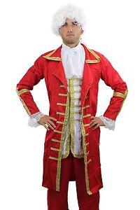 Red Baron: High Quality Men's Costume Baroque Mozart Aristocrat L015