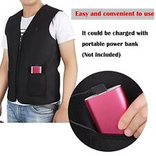 Winter Body Warmer Electric Vest Heated Cloth Jacket USB Thermal Warm Heated Pad