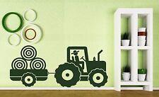 Vinyl Decal Wall Sticker Kid's Tractor Trailer Farm Boy's Room Decoration (n180)