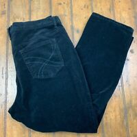 Gloria Vanderbilt Womens Plus 18W Amanda Velvet Tapered Pants Black Stretch