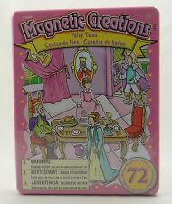 MAGNETIC CREATIONS ~ FAIRY TALES~72 Pieces w/ 3 Background Scenes + Tin Case~NEW