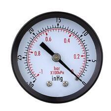 Mini Dial Air Vacuum Pressure Gauge Meter Vacuum Manometer -30inHg/-1bar O12C