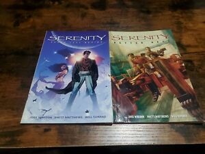 Serenity Vol 1 and 2 lot 2006 Those Left Behind Better Day Paperback Dark Horse