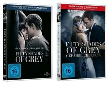 2 DVDs * FIFTY SHADES OF GREY 1 + 2 IM SET # NEU OVP +