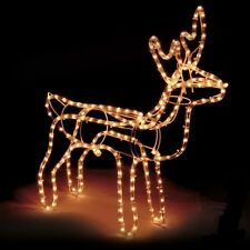 Large Christmas Reindeer Light Up Outdoor Garden LED Rope Decoration Silhouette