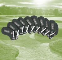 Pro Tekt Neoprene Golf Club Iron Covers 10 Piece Set 4-SW LW GW Right or Left