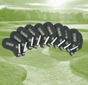 Pro Tekt Neoprene Golf Club Iron Covers 10 Piece Set 4-SW LW GW Right or Left