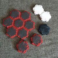 Heroscape Terrain Volcarren Lava Snow Mixed Hex Tiles Expand Your Battlefield
