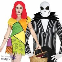 Adult Men Ladies Couples Mr Skeleton Suit Rag Doll Halloween Fancy Dress Costume