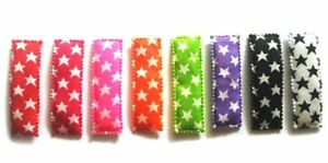 36 pc Star Printed Rectangular hair clip cover size 55 mm mix assorted colors