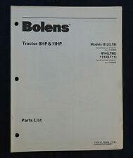 1981-82 Bolens Modèle 812 LT8 814 LT8E 1113 LT11 Jardin Tracteur Parts Catalogue