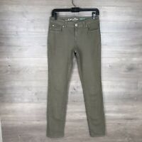"INC International Concepts Women's Size 2 Skinny Leg Jeans Green 32"" Inseam"