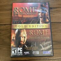 Rome: Total War -- Gold Edition (PC, 2006) 4 Discs & Manual SEGA