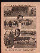 WWI US Army Plattsburg General O'Ryan/Scott Baker Minister USA 1917 ILLUSTRATION
