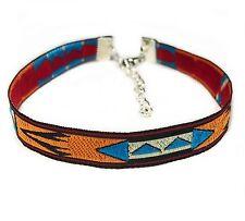 "M Created & Designed in Australia Anklet Aztec Blue Tan White 24cm (9.4"")"