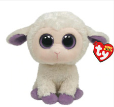 "Ty Beanie Boos Plush Animal Doll Clover White Sheep Soft Stuffed Toys 6"" 15cm"