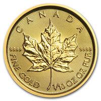 2018 Canada 1/10 oz Gold Maple Leaf BU - SKU#153129