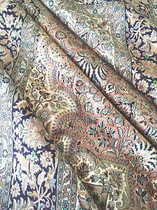 Seidenteppich Kashmir Handgeknüpft Orient Seide Teppich Rosa Silk Rug Carpet