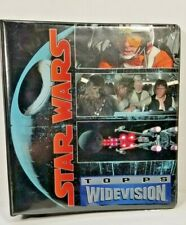 Star Wars 1994 Topps Widevision Collectors Cards in Binder ( 100+ card Lot )