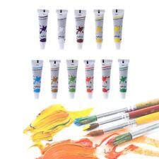 12 Color Acrylic Paint Set 12 ml Tubes Artist Draw Painting Pigment Art Suppl